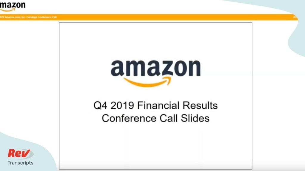 Amazon Q4 2019 Earnings Call