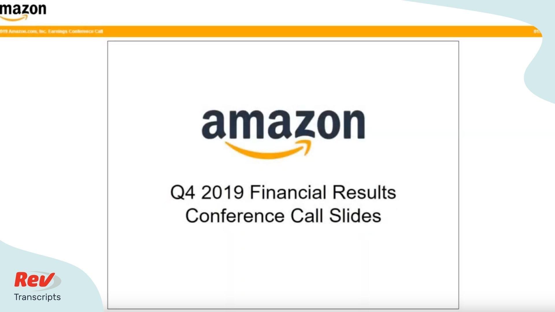 Amazon Q4 2019 Earnings Call