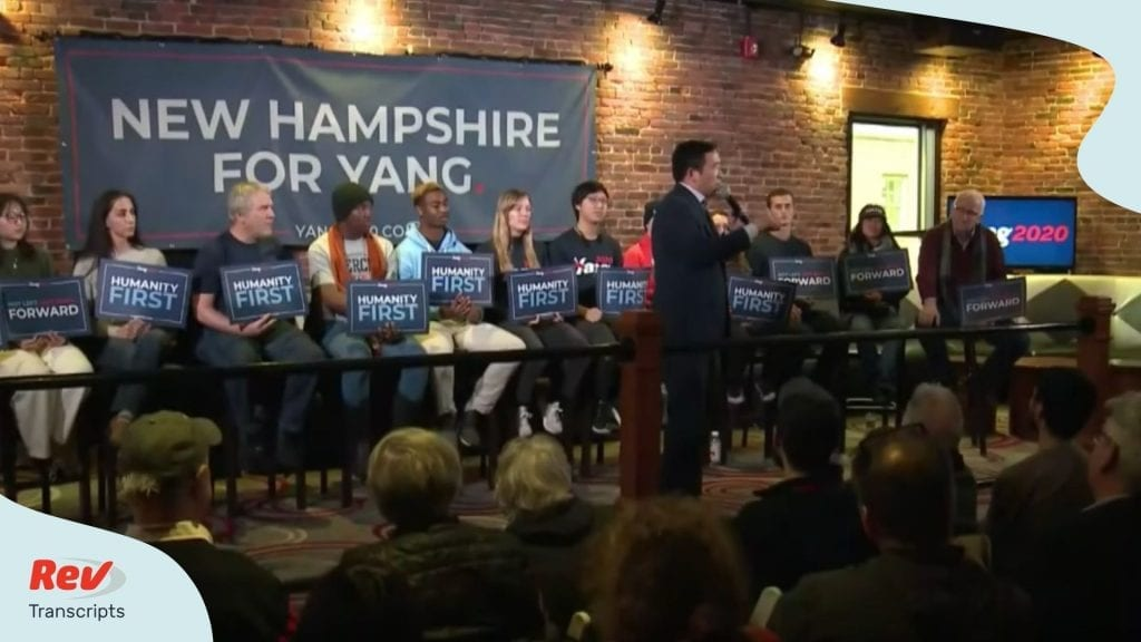 Andrew Yang New Hampshire Town Hall Transcript