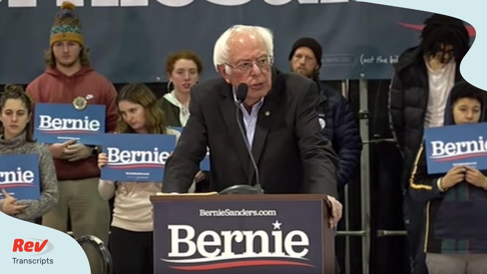 Bernie Sanders Town Hall Transcript New Hampshire