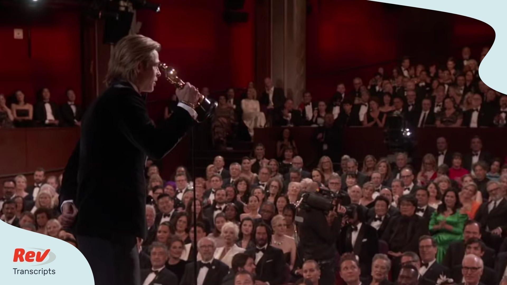 Brad Pitt Oscar Acceptance Speech 2020