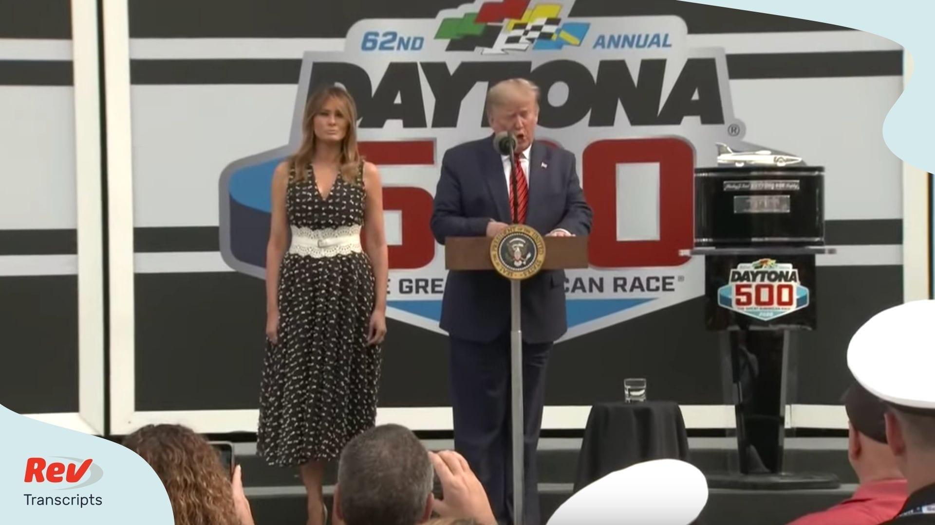 Donald Trump Speech Transcript Daytona 500
