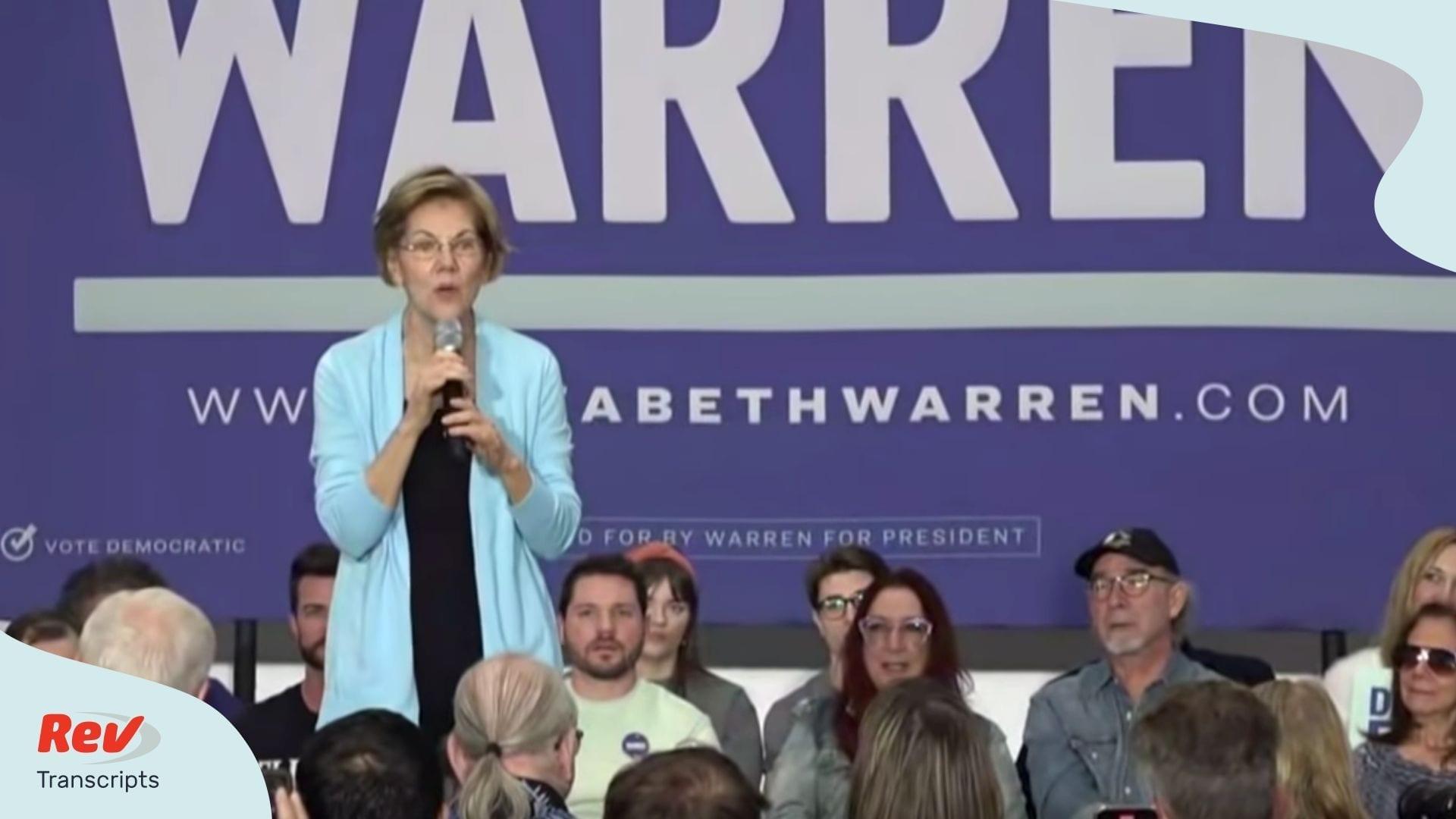 Elizabeth Warren Town Hall Nevada Transcript