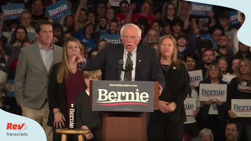 Iowa Caucus Speech Transcripts Democratic Candidates Bernie