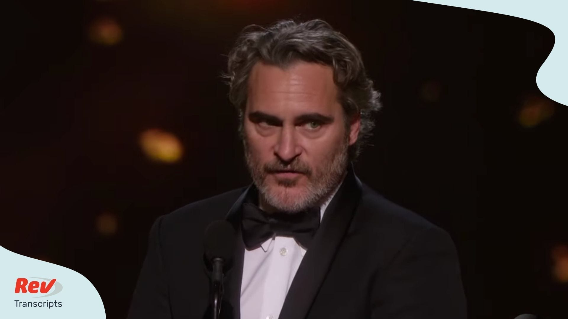 Joaquin Phoenix Oscar Acceptance Speech Transcript