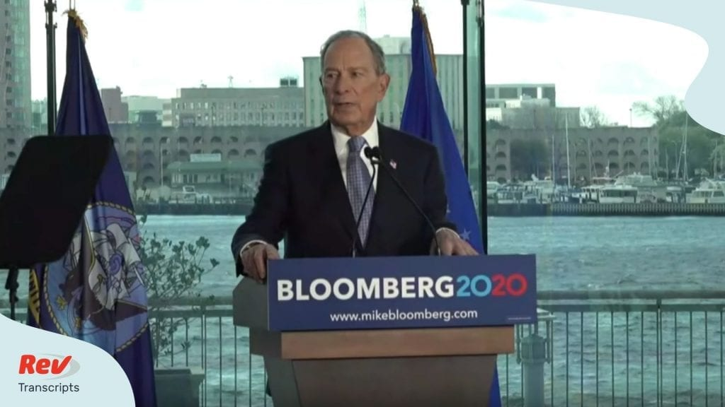 Mike Bloomberg Speech Transcript Norfolk VA 2020 Campaign
