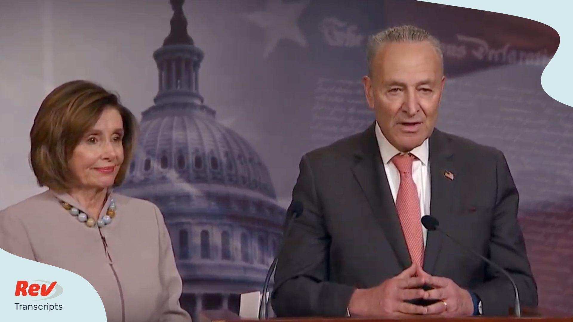Nancy Pelosi Chuck Schumer Press Conference Transcript Trump Budget Proposal