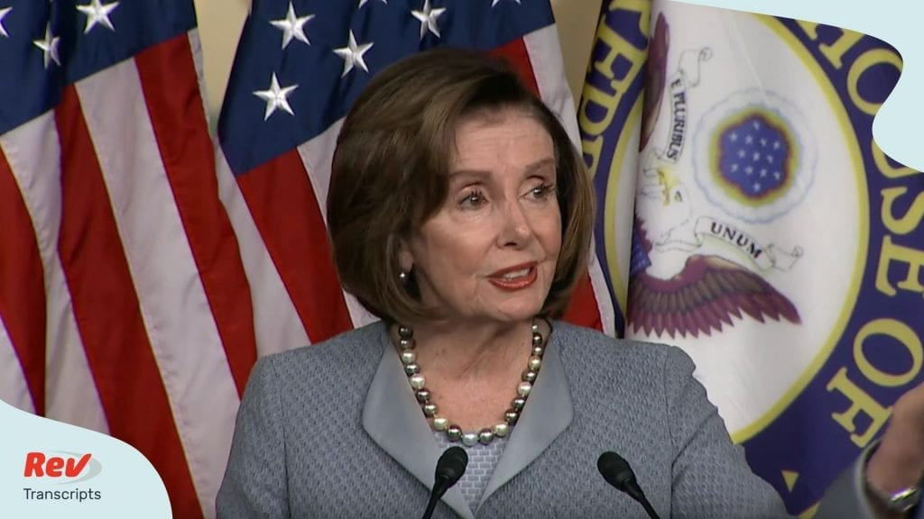 Nancy Pelosi News Conference Coronavirus Budget