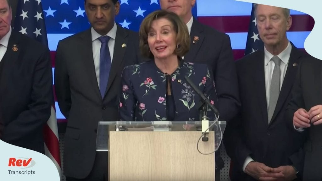 Nancy Pelosi speaks with Congressional delegation at NATO headquarters in Belgium transcript