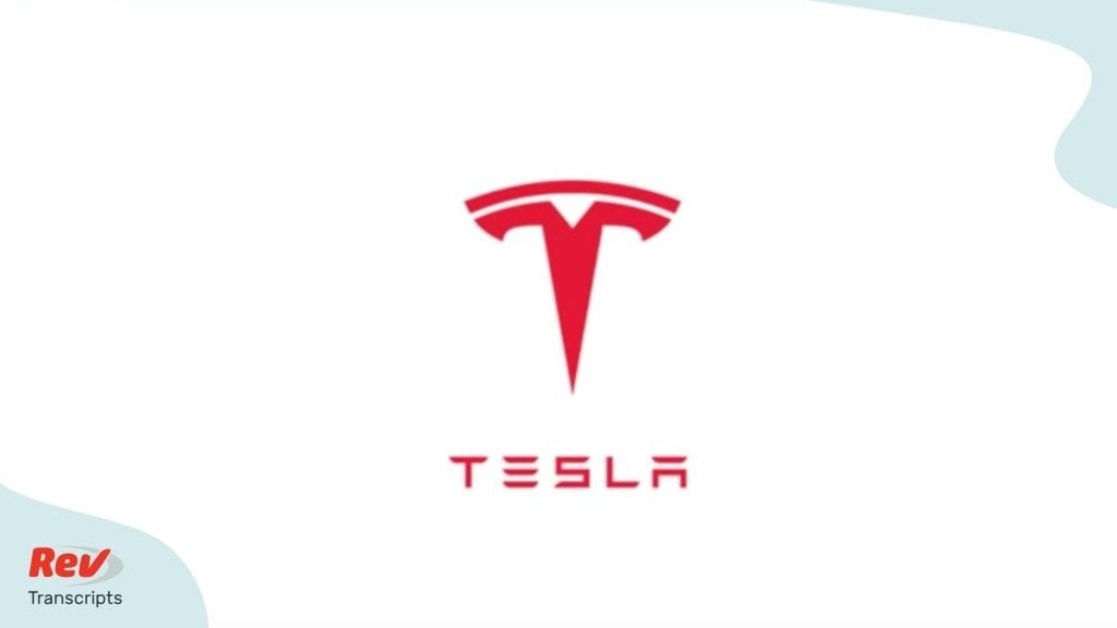 Tesla Q4 2019 Earnings Call Transcript