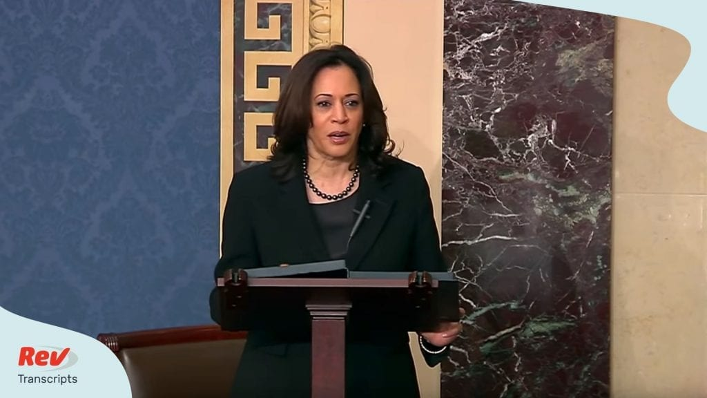 Trump Impeachment Trial Final Day Transcript 2-5-20 Kamala Harris