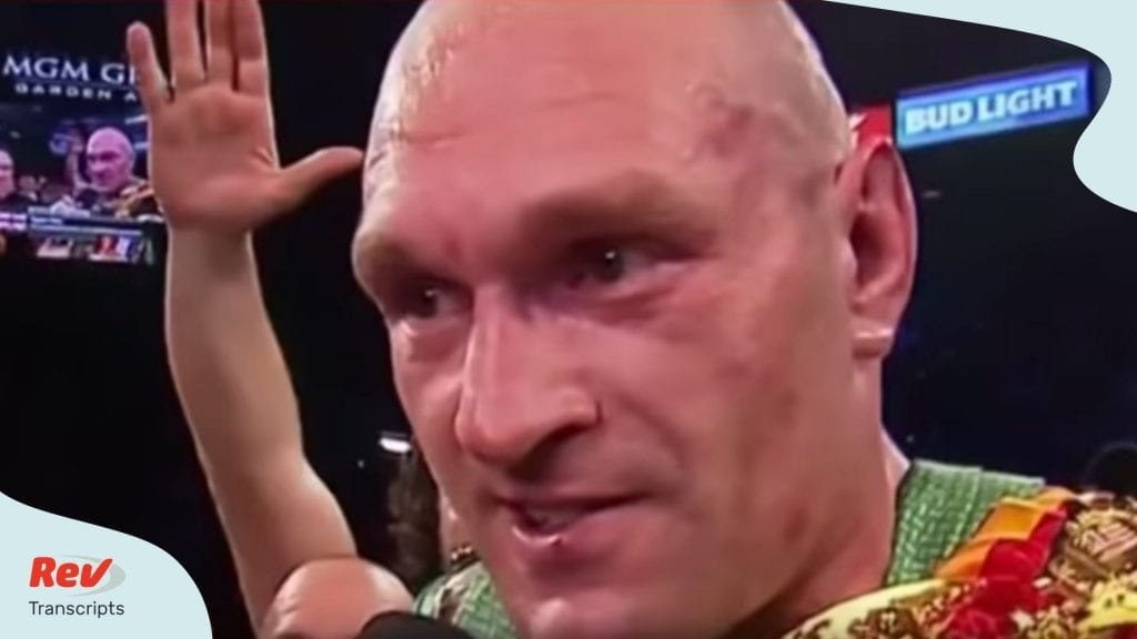 Tyson Fury Deontay Wilder Post Fight Press Interview Transcripts