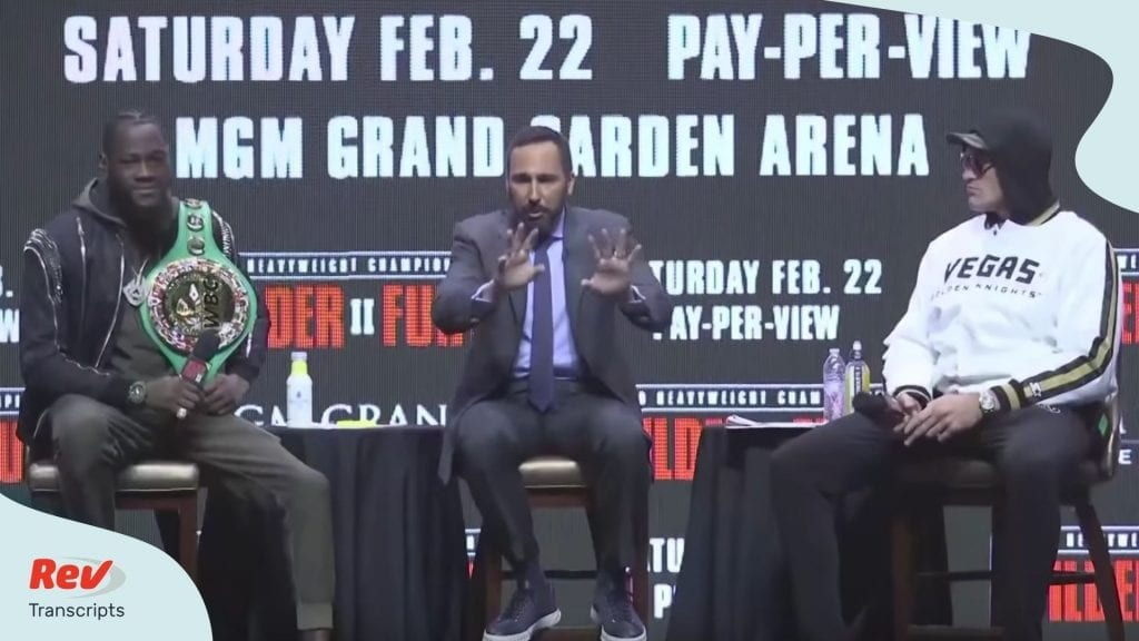 Wilder v Fury 2 Press Conference Transcript