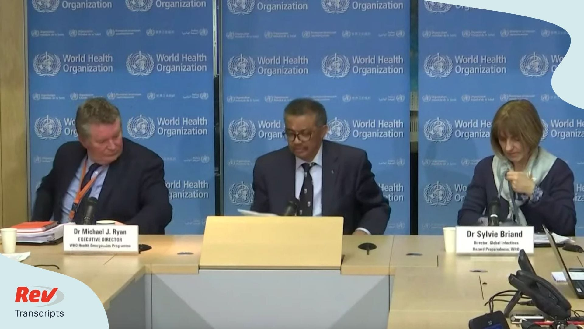 World Health Organization WHO coronavirus update