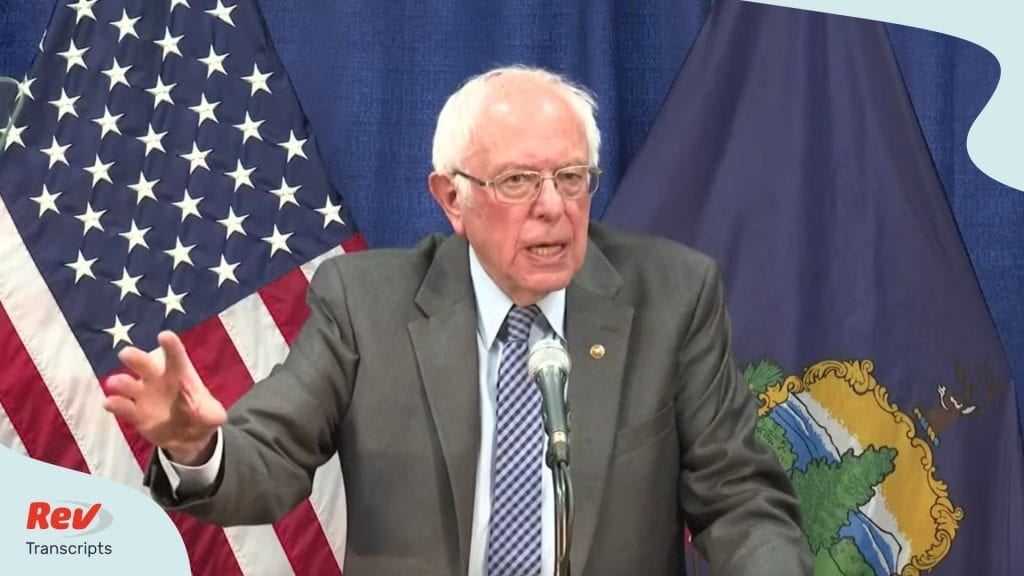 Bernie Sanders Coronavirus News Conference Transcript