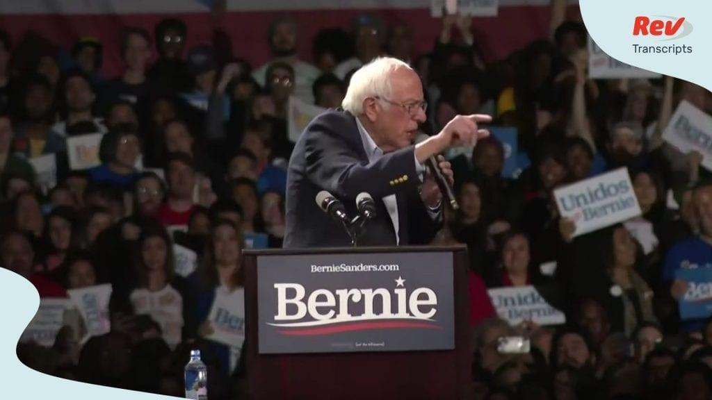 Bernie Sanders Los Angeles Rally Transcript