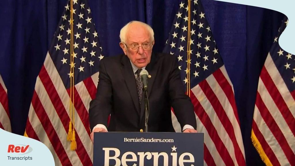 Bernie Sanders Speech Stays in Democratic Presidential Race