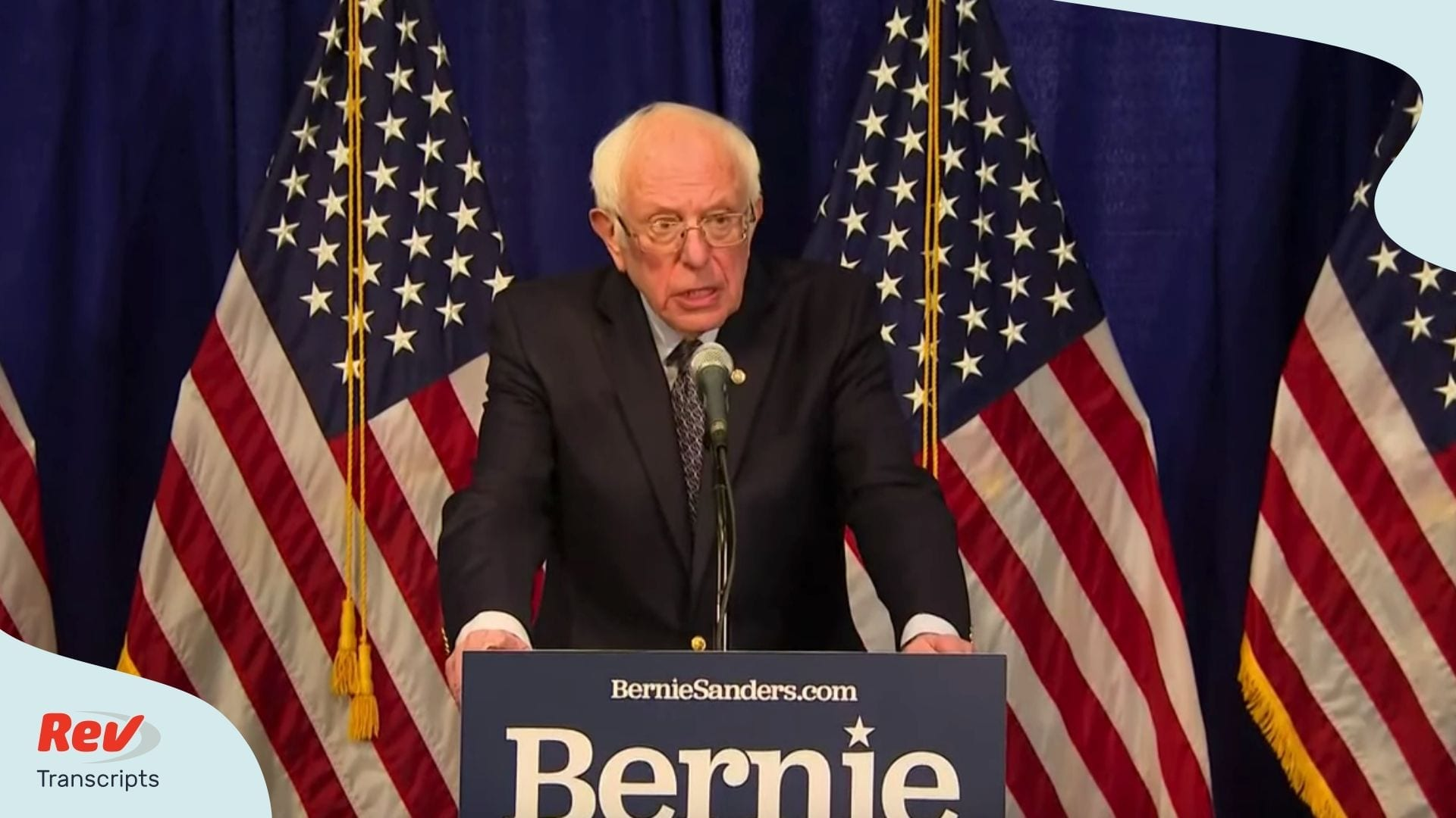 Bernie Sanders Speech Stays in Democratic Presidential Race