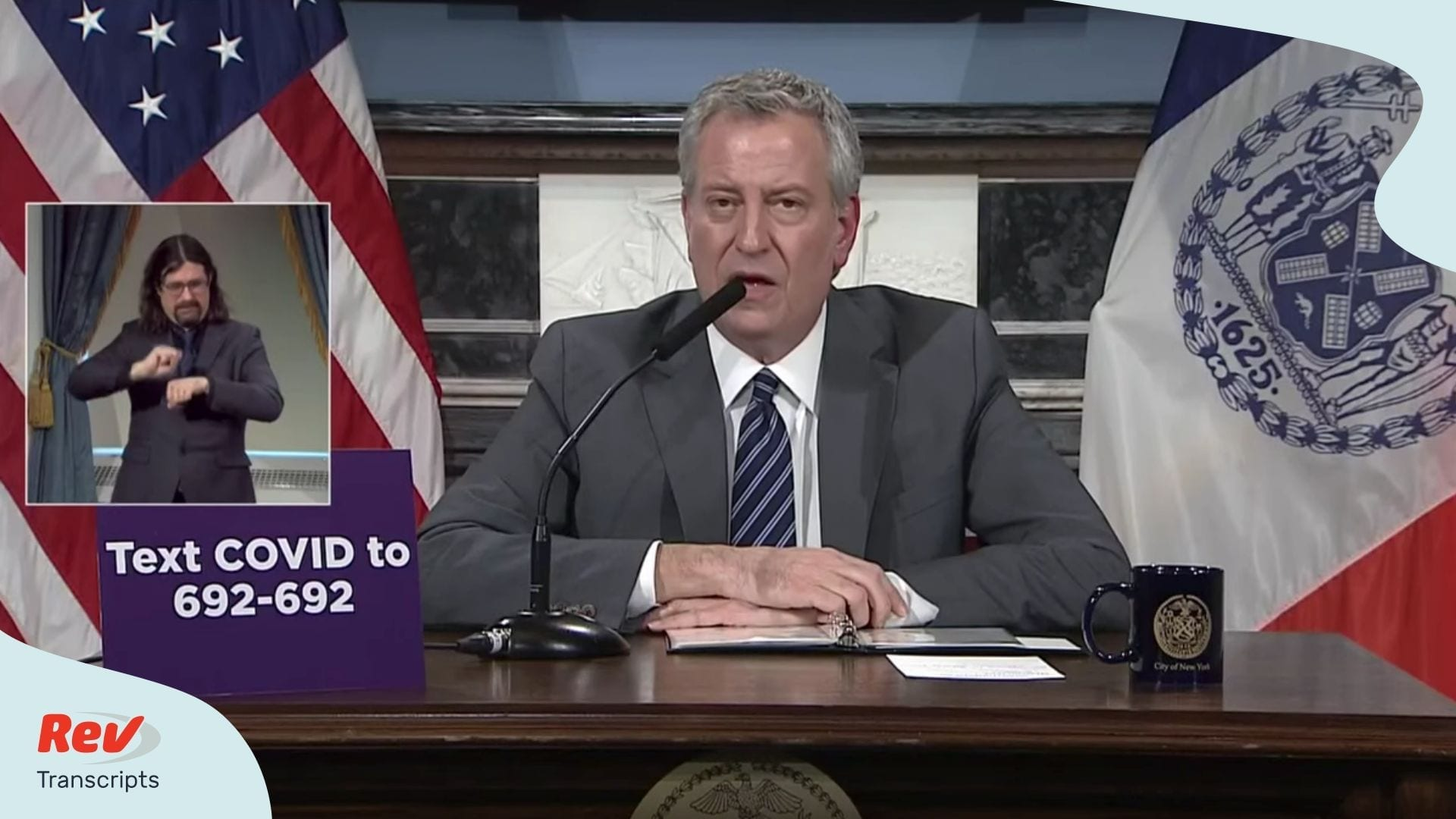 Bill de Blasio Coronavirus Briefing Transcript March 26