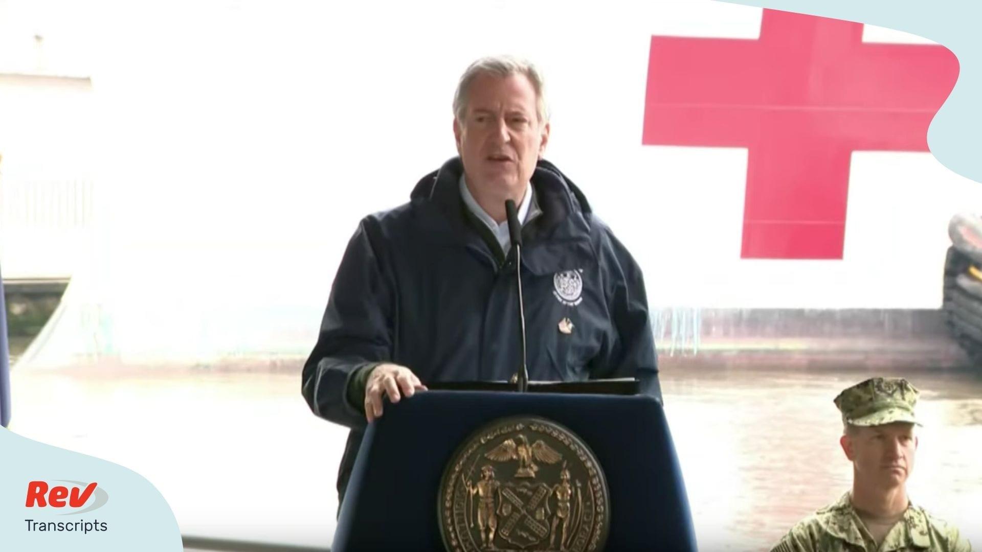 Bill de Blasio New York City Update March 30