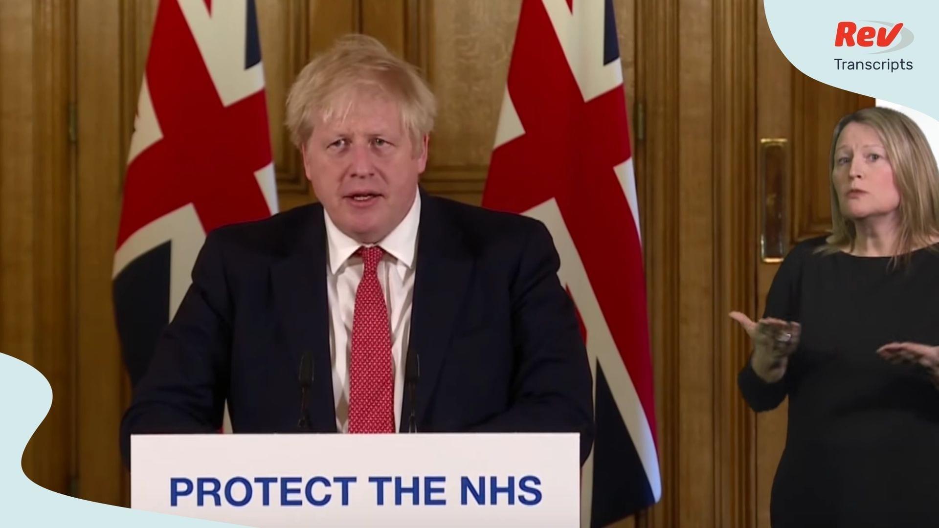 Boris Johnson Coronavirus Update March 21