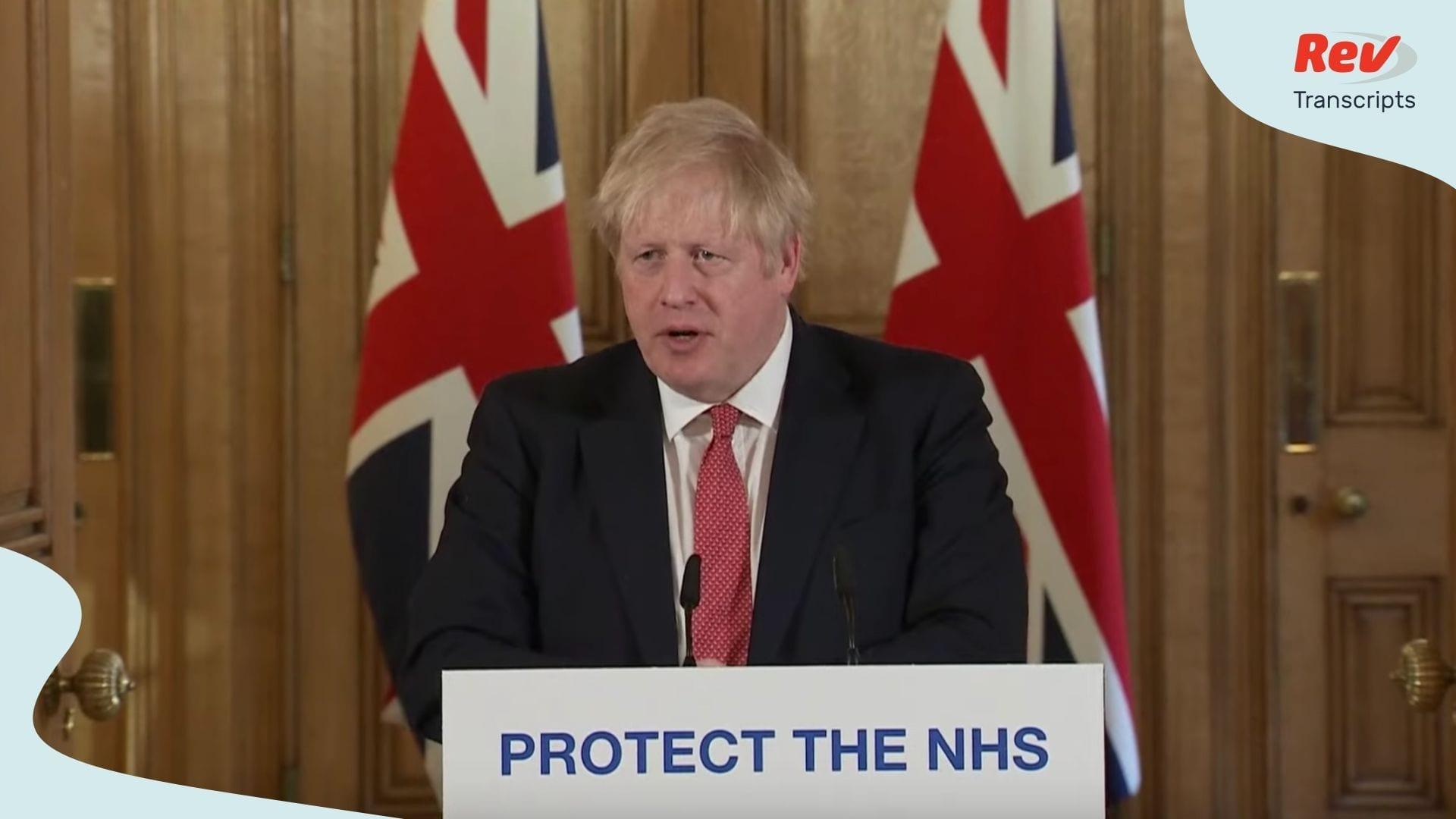 Boris Johnson Coronavirus Update March 22