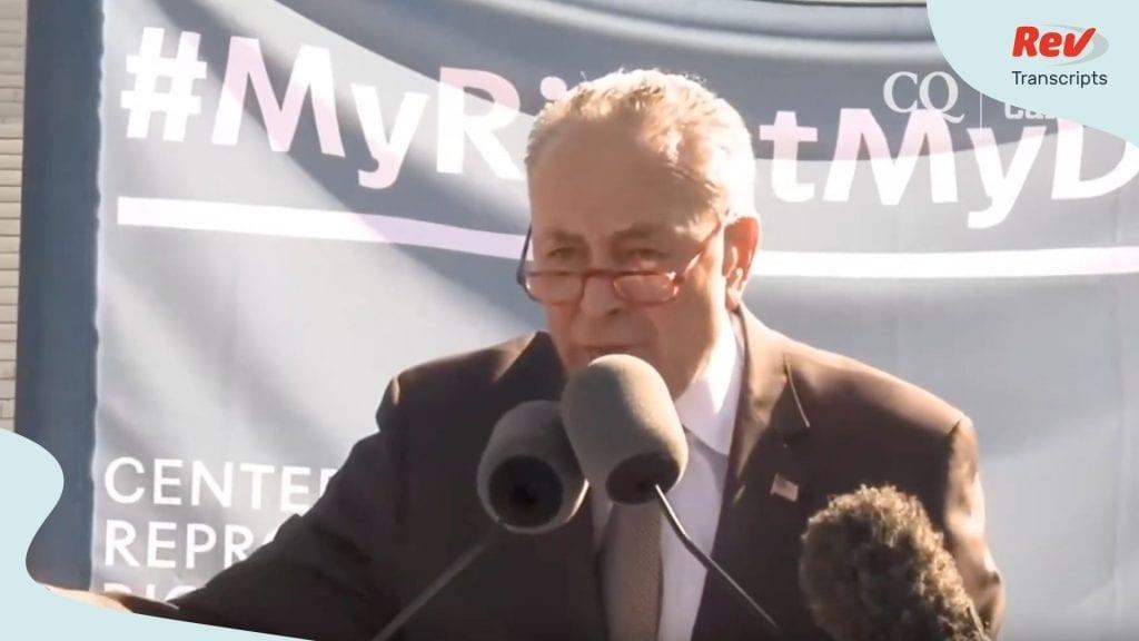Chuck Schumer Pro Abortion Rally Speech Kavanaugh