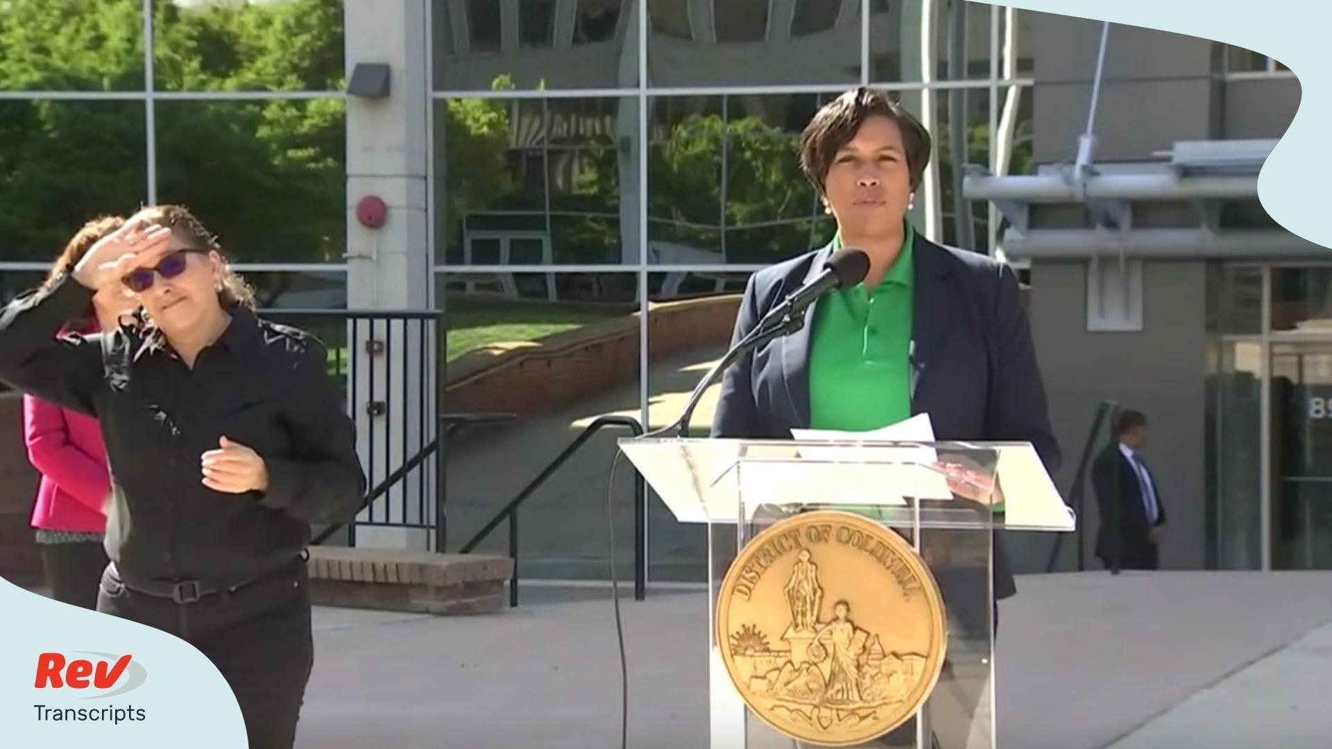 DC Mayor Coronavirus Update March 30