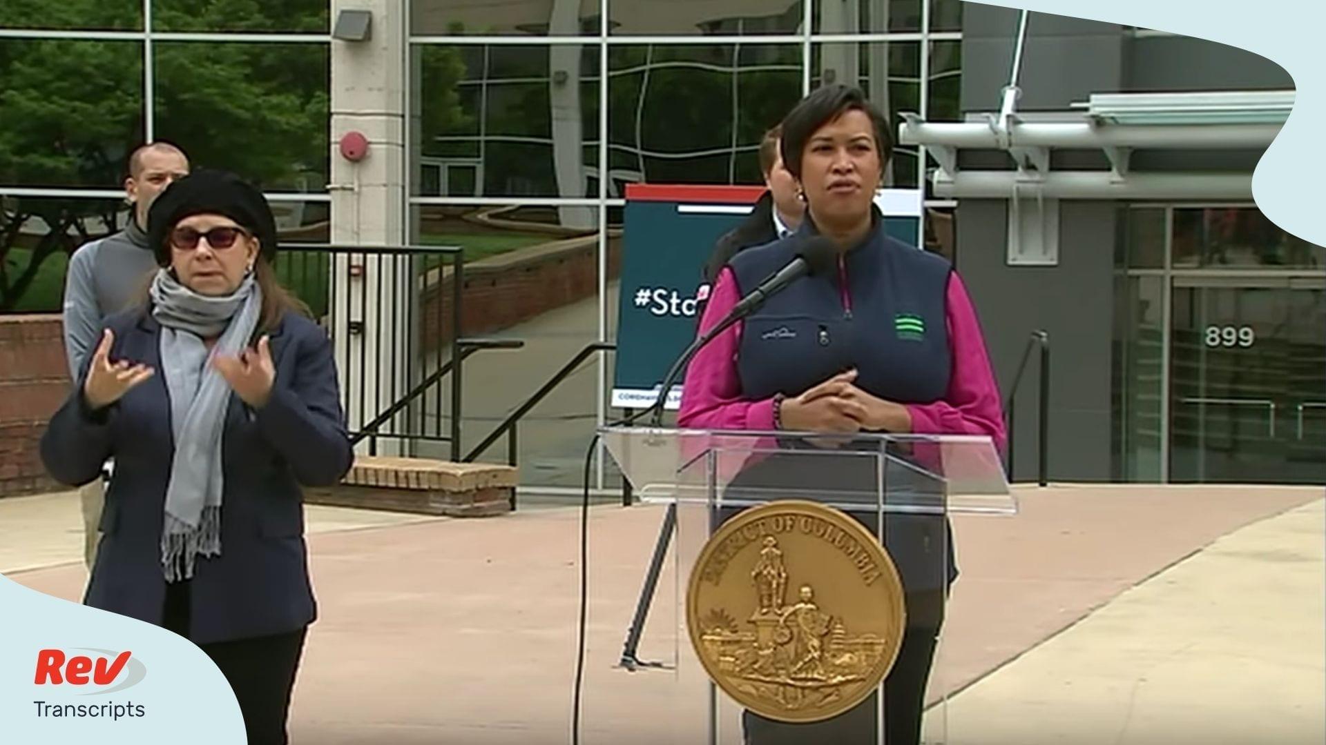 DC Mayor press briefing march 31