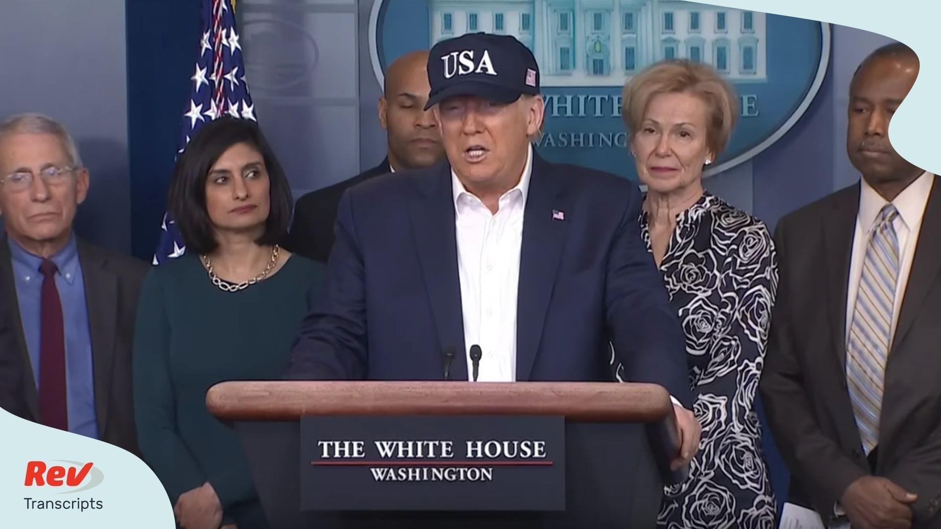 Donald Trump Coronavirus Press Conference March 14