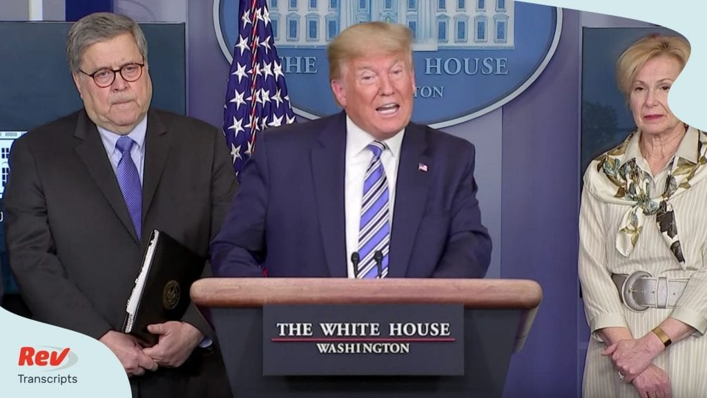 Donald Trump Coronavirus Task Force Briefing March 23
