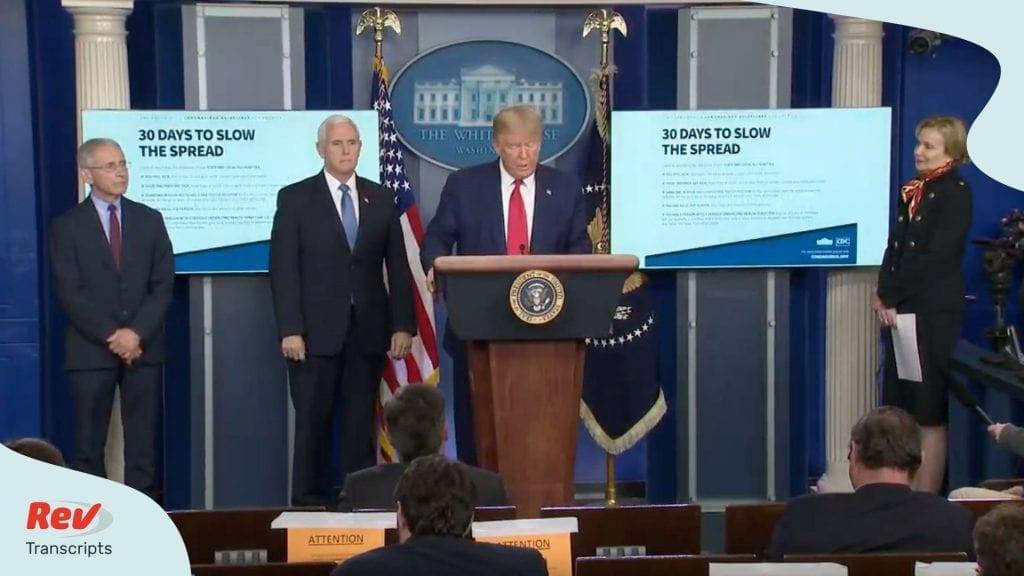 Donald Trump Coronavirus Task Force Briefing March 31 Transcript