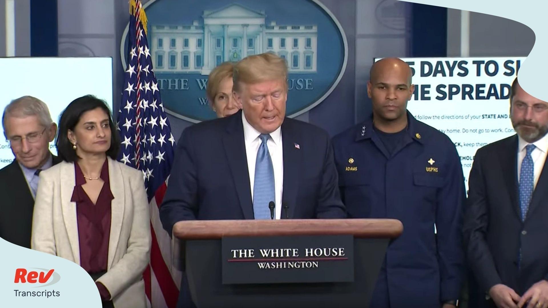 Donald Trump Coronavirus Task Force Update March 16