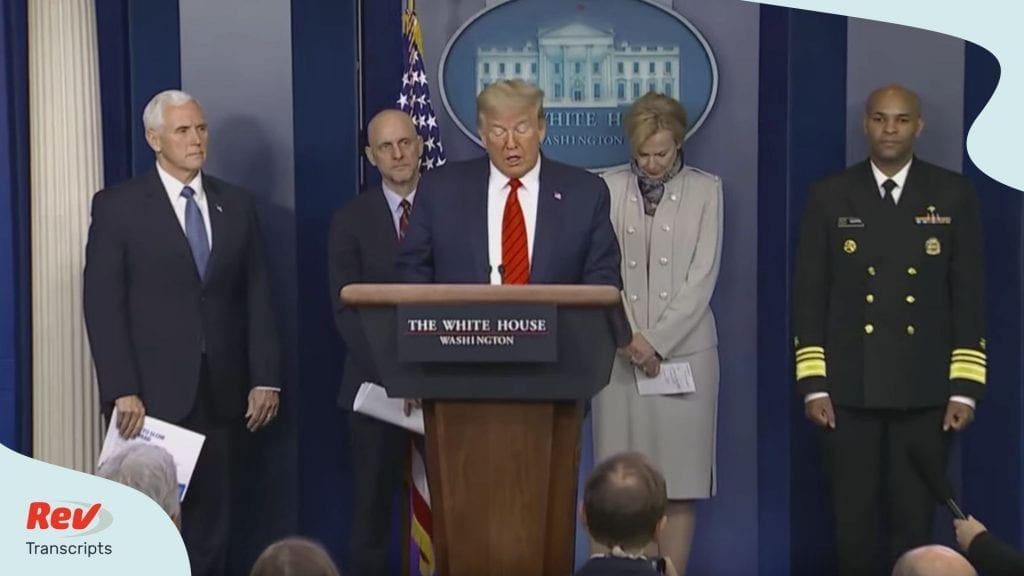 Donald Trump Coronavirus Task Force Update March 19