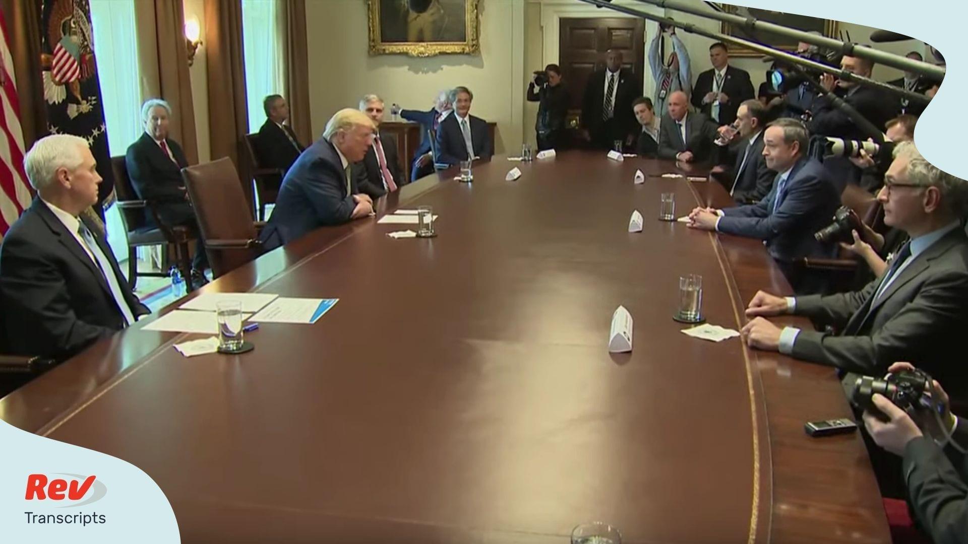 Donald Trump Meeting Transcript with Tourism Executives