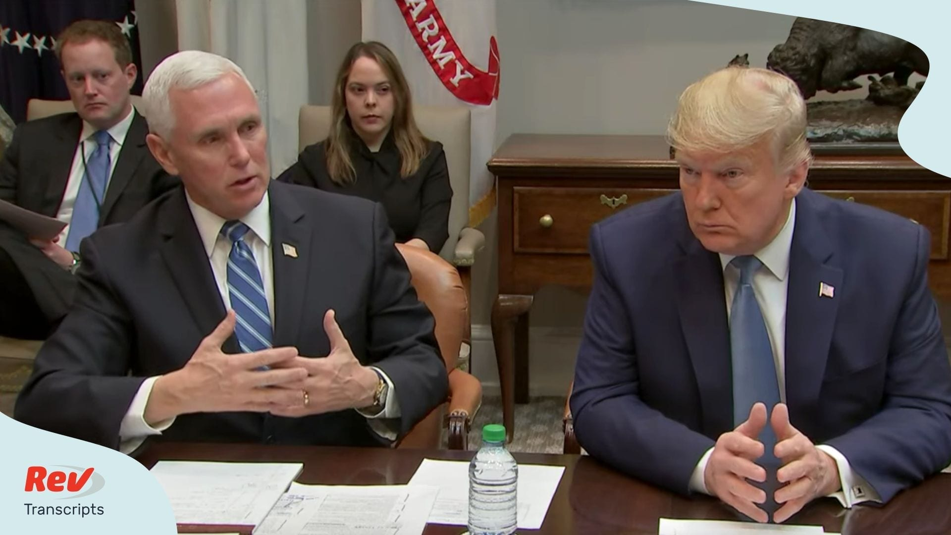 Donald Trump Mike Pence Meet with Health Insurance CEOs