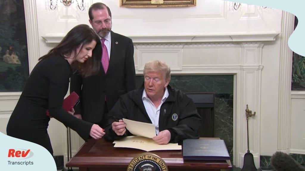 Donald Trump Signs Spending Bill Coronavirus