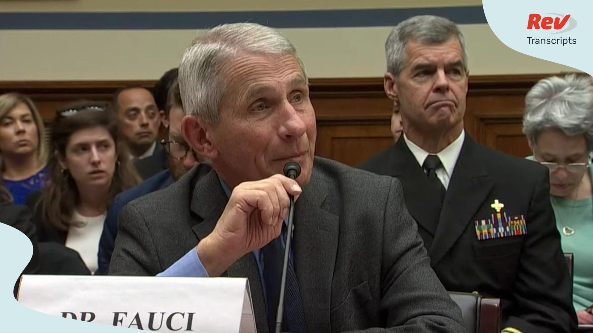 Dr Fauci CDC and NIH Testify on Coronavirus Transcript