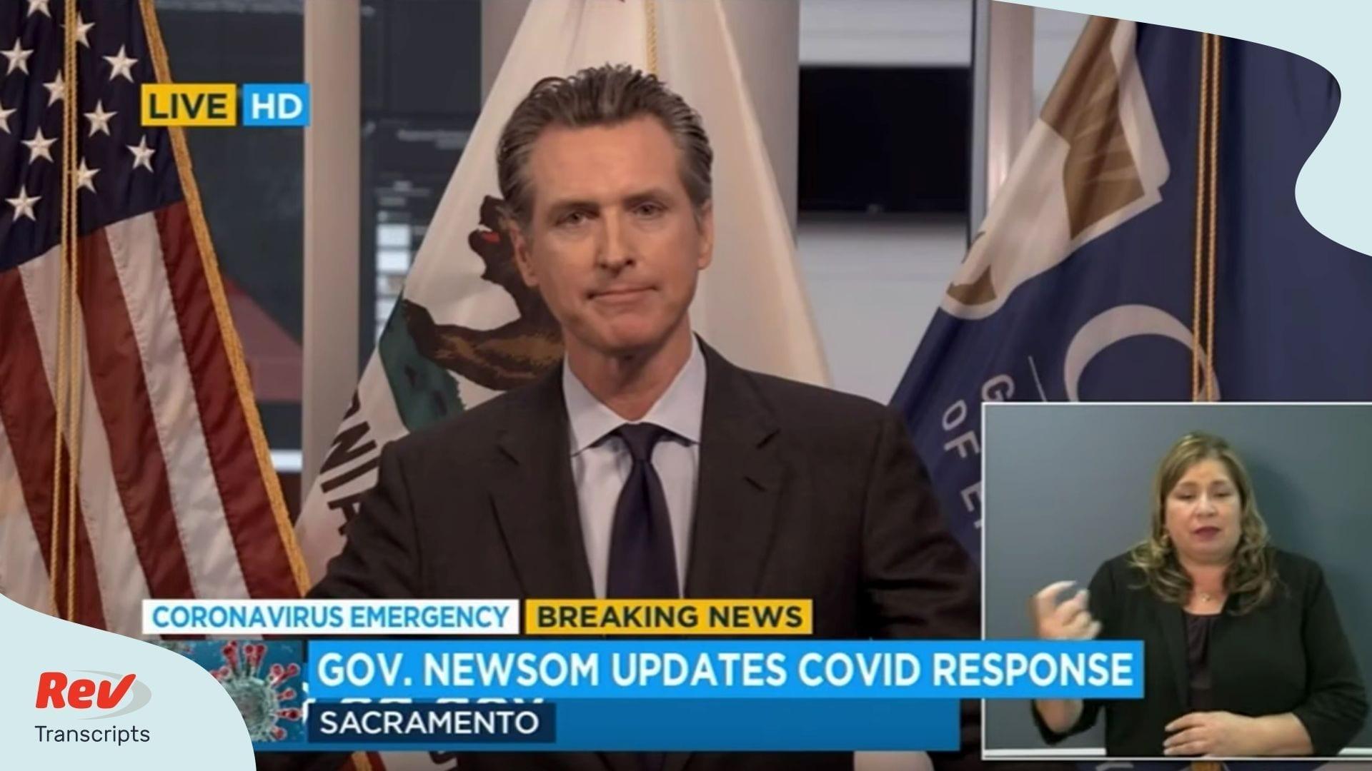 Gavin Newsom Coronavirus Briefing Transcript March 25 California