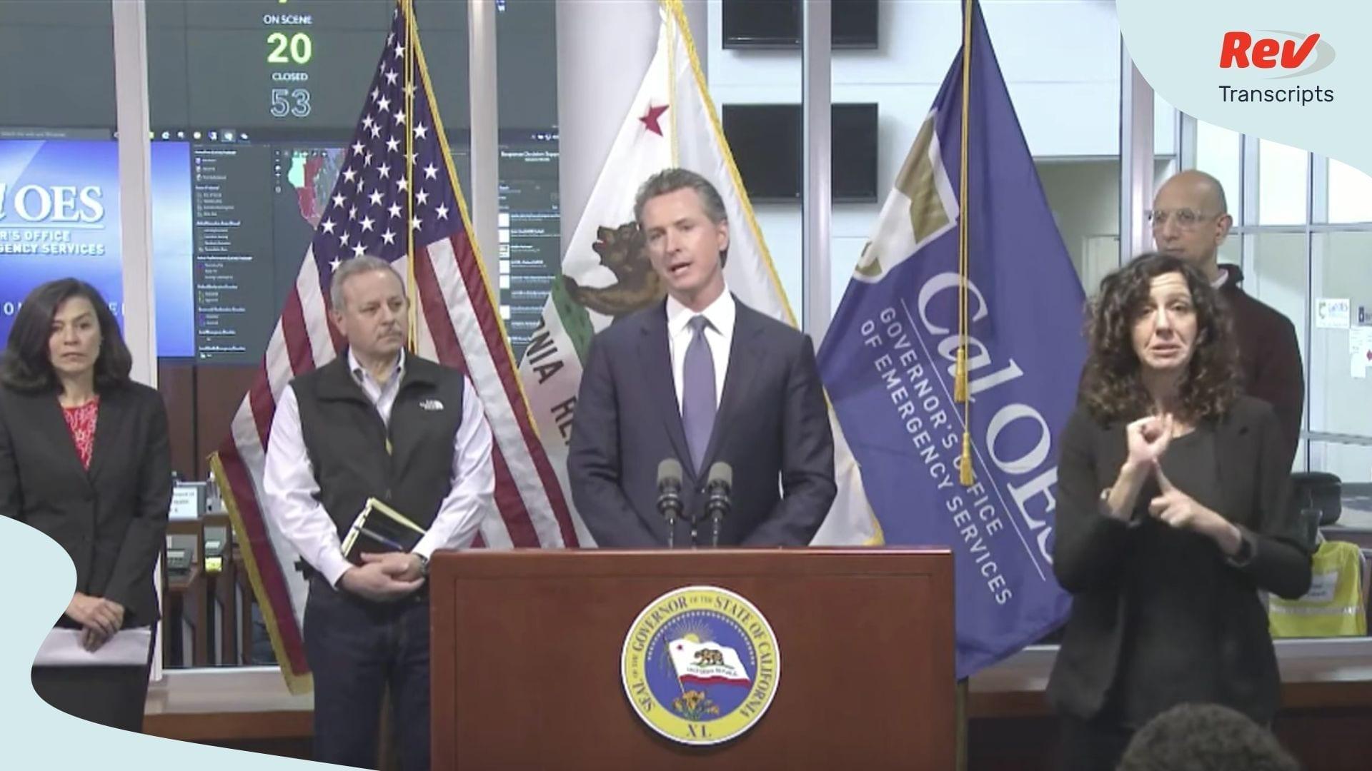 Gavin Newsom Coronavirus Update California