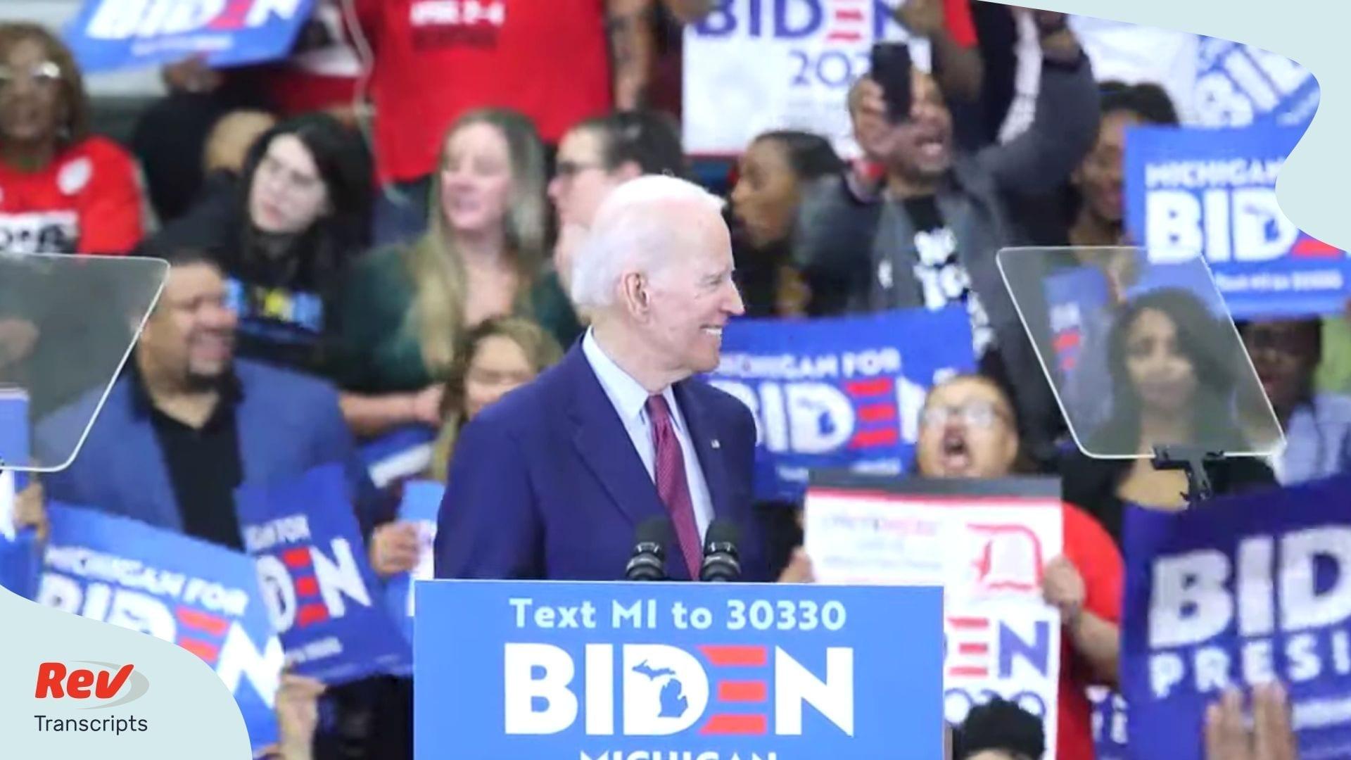 Joe Biden Detroit Michigan Rally Transcript