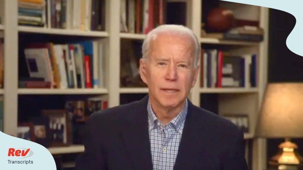 Joe Biden News Conference Transcript Coronavirus