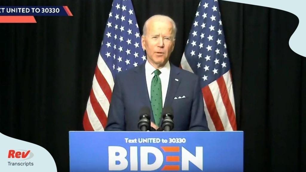 Joe Biden Speech Primary Night Florida Illinois Arizona