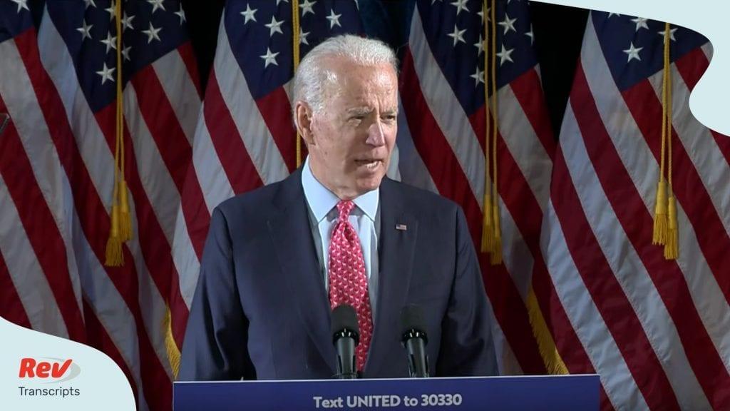 Joe Biden Speech Transcript on Coronavirus March 12