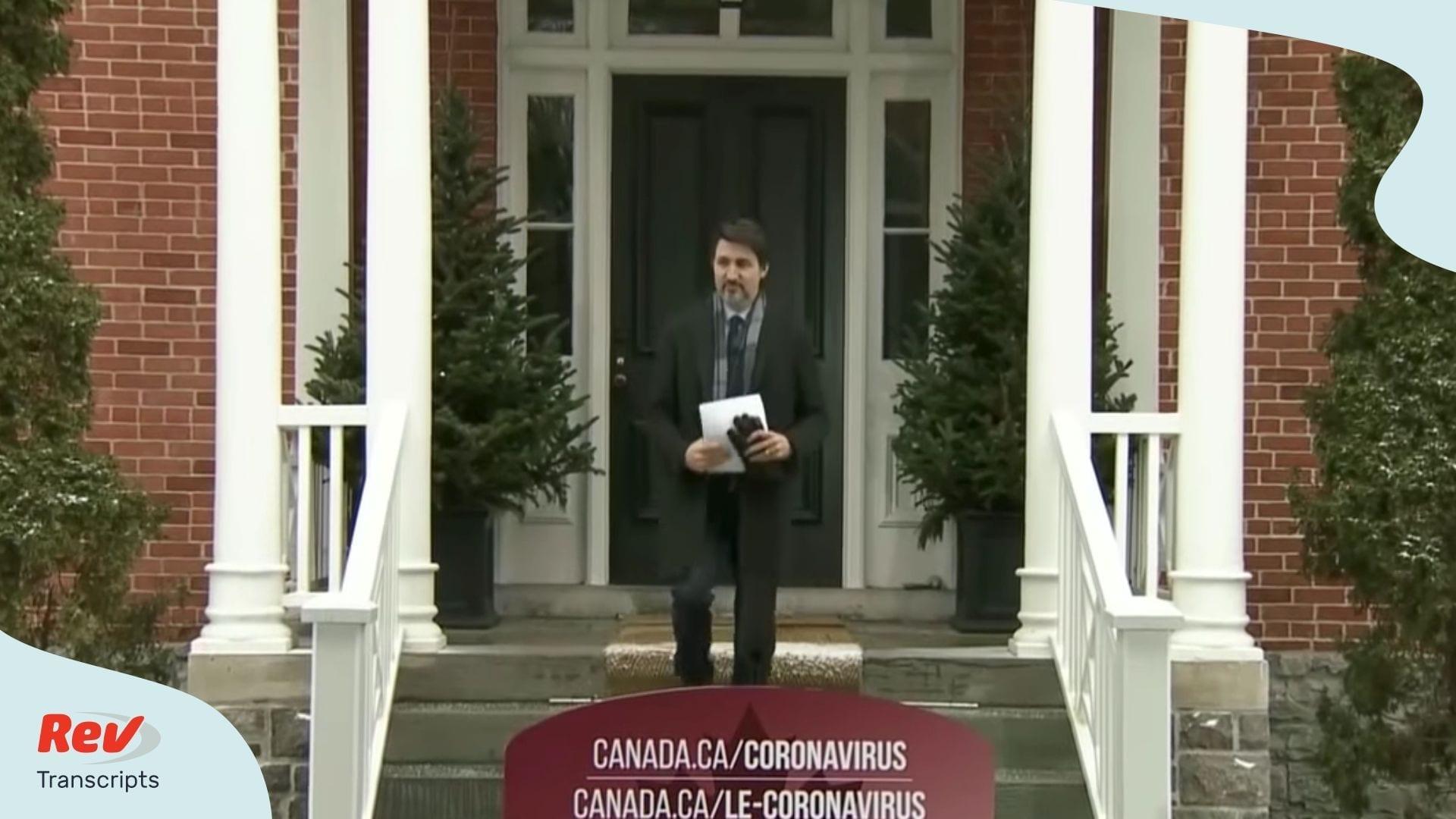 Justin Trudeau Coronavirus Briefing March 23 Canada