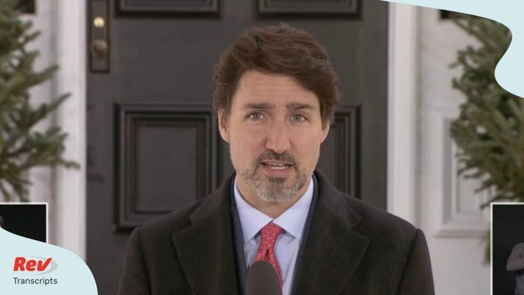 Justin Trudeau Coronavirus Briefing March 25