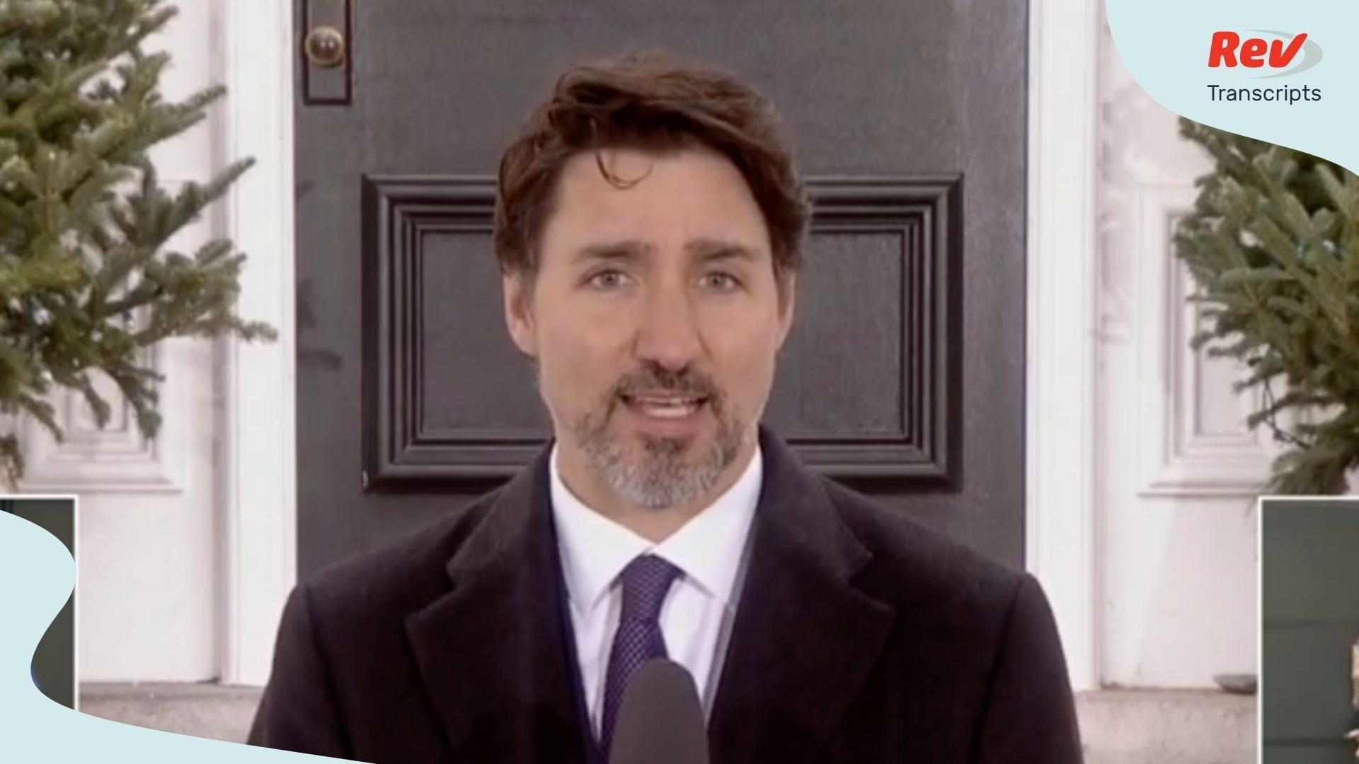 Justin Trudeau Coronavirus Update Transcript March 20