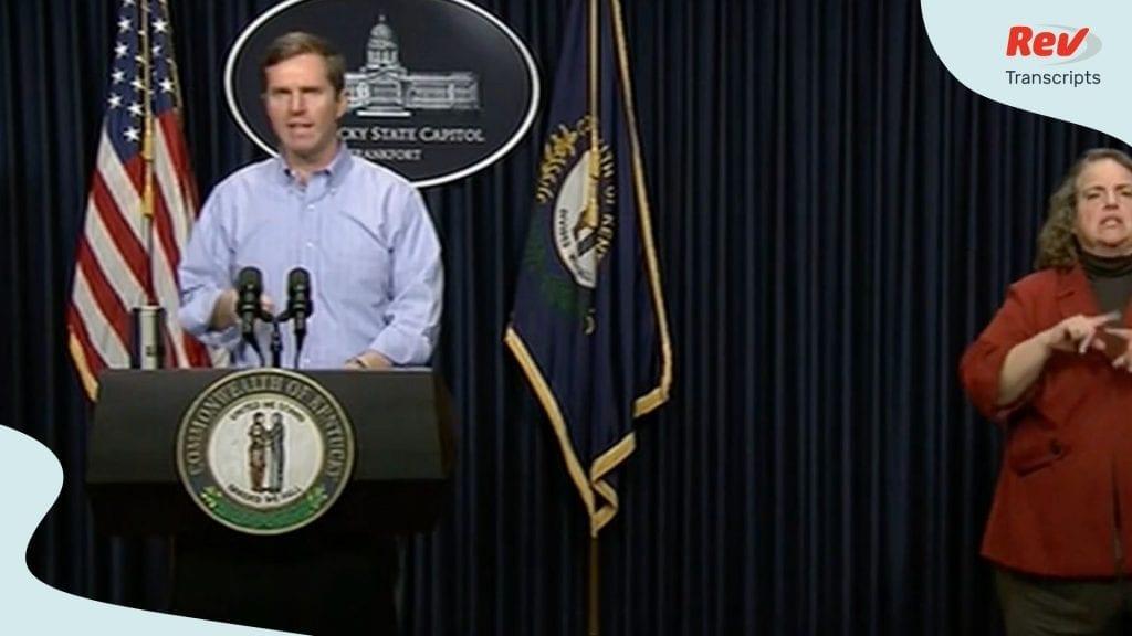 Kentucky Governor Coronavirus update March 24