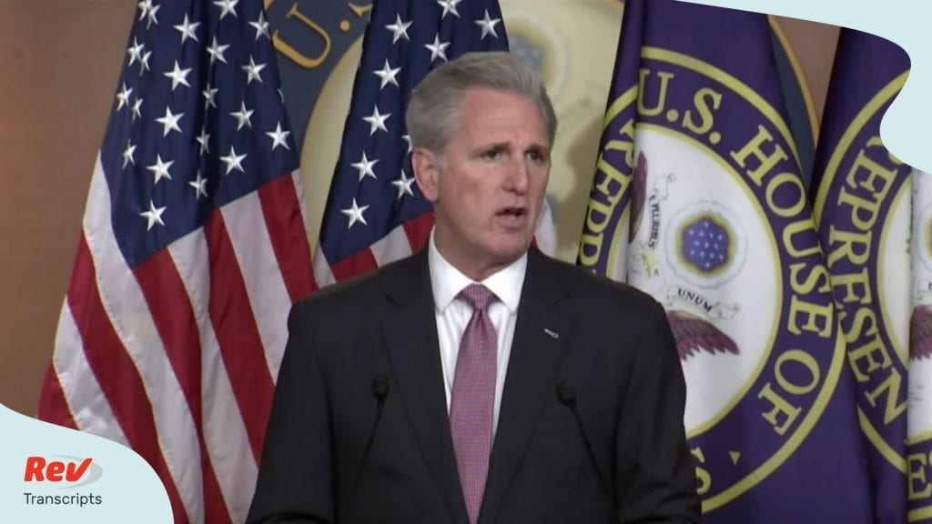 Kevin McCarthy Press Briefing Transcript March 26
