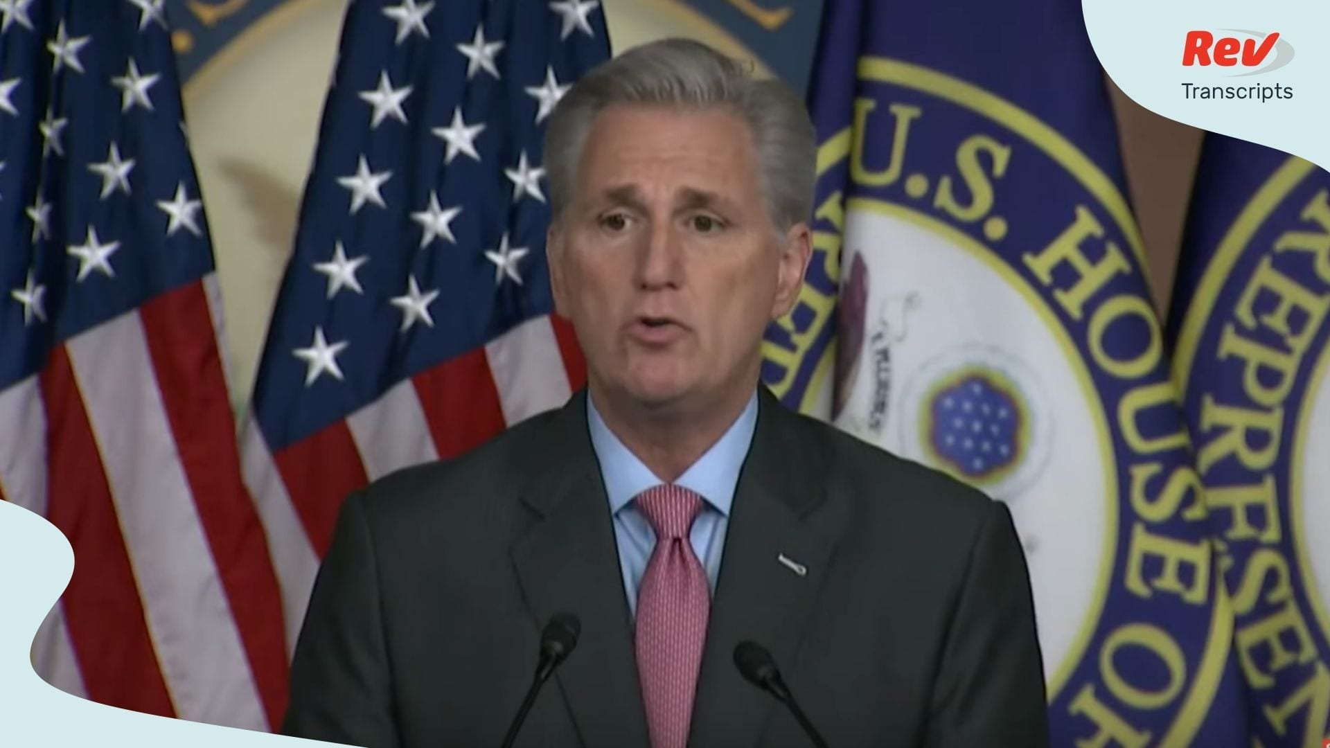 Kevin McCarthy Press Conference Transcript March 25